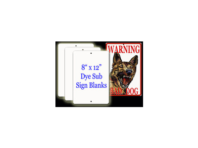 Aluminum Sublimation Sign.