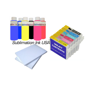 EPSON 1400-1430 sublimation ink, cartridge and paper